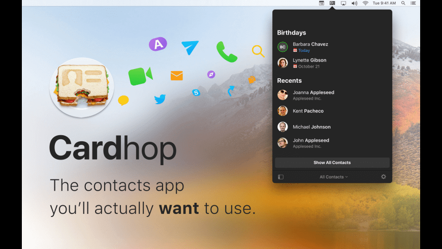 Cardhop for mac download