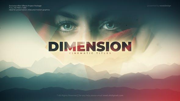 VideoHive Dimension Cinematic Title
